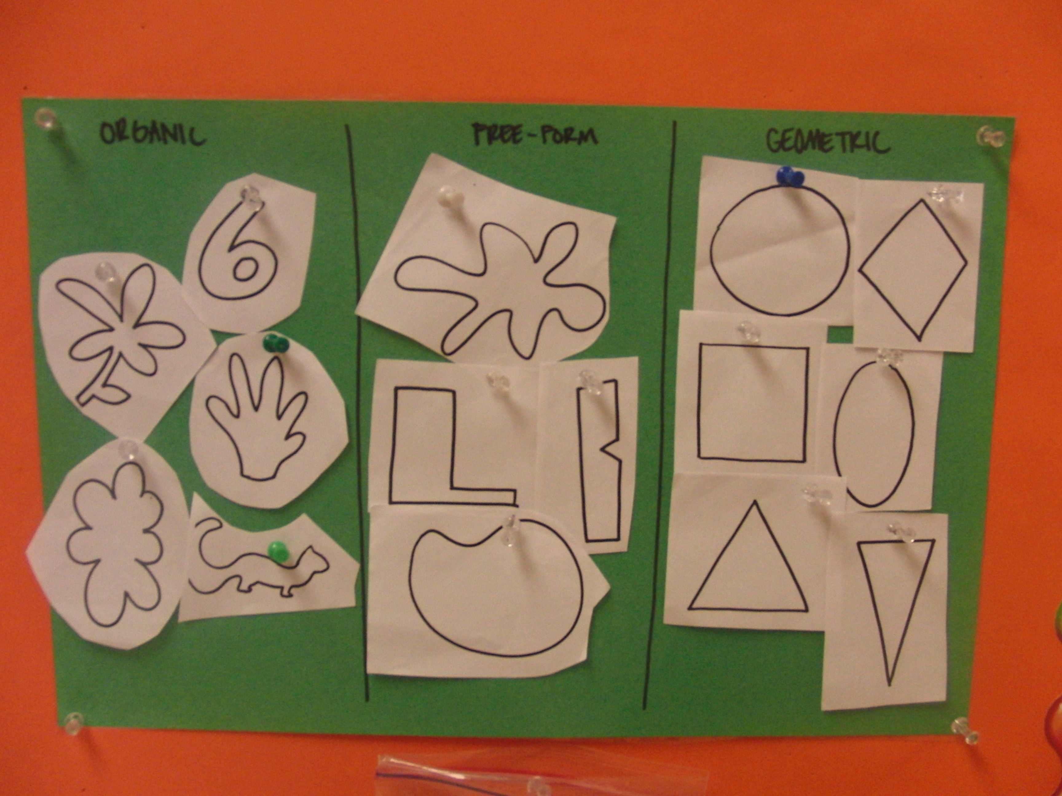 Mission Matisse With Images Shapes Lessons Shape Art Art