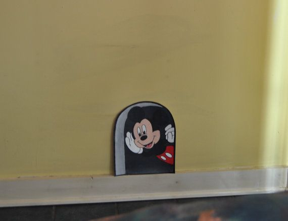 Mouse In The Hole Mickey Mouse Wallpaper Mural Decal