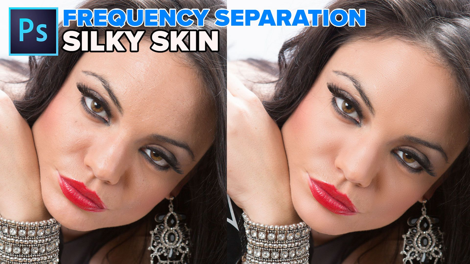 Frequency separation silky smooth skin in