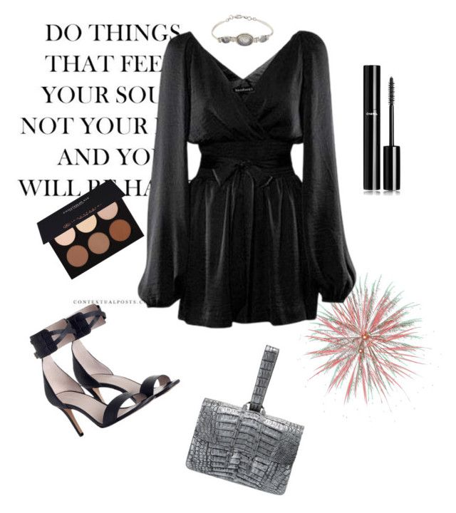 """""""👀"""" by esintuncer ❤ liked on Polyvore featuring Zimmermann, Chanel, Anastasia Beverly Hills, Nancy Gonzalez and NOVICA"""