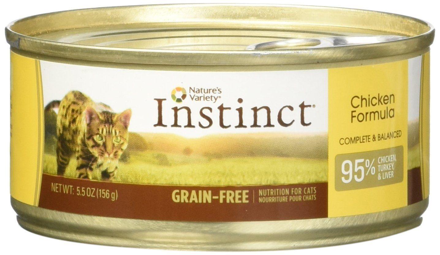 Instinct Canned Cat Food, Chicken, 5.5 oz. ** Startling