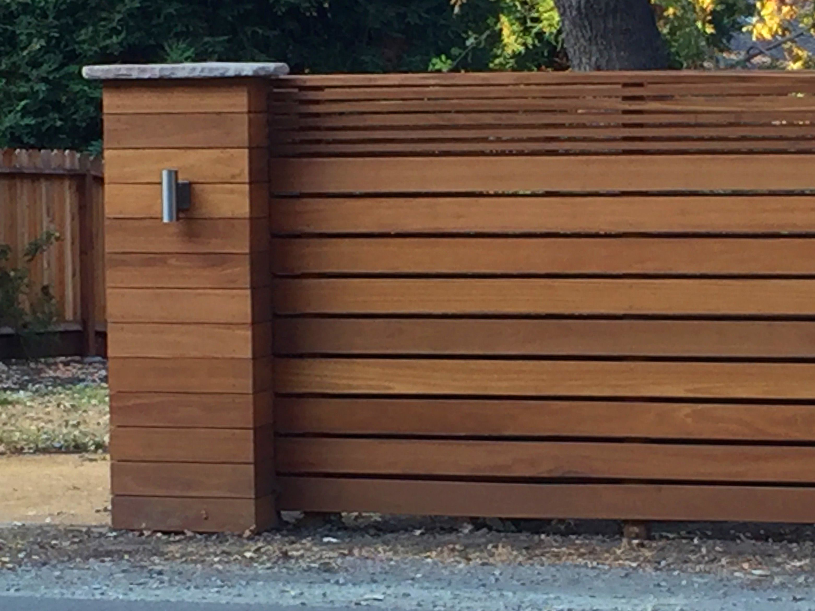Contemporary Fence And Pillar In Danville Ca Using Horizontal