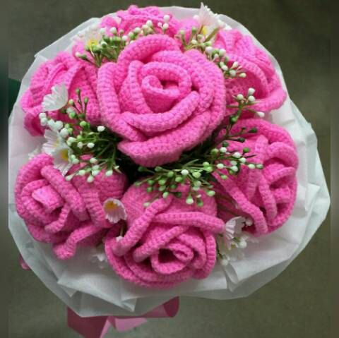 Crochet Wedding Bouquet By Thaihandmade2459 On Etsy Crochet Ideas
