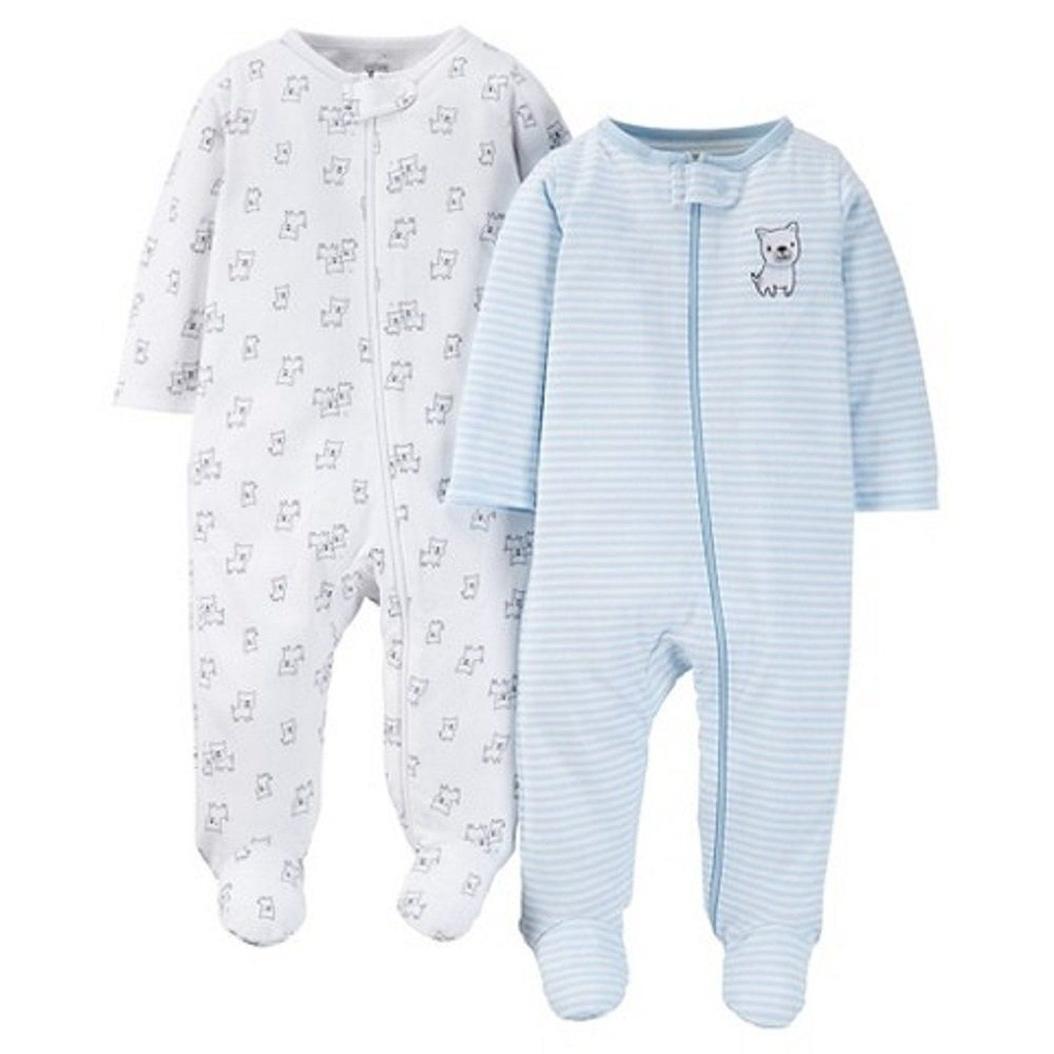 06fa0c89777a Amazon.com  Carter s Just One You Baby Boys  Doggy 2-Pack Footed ...