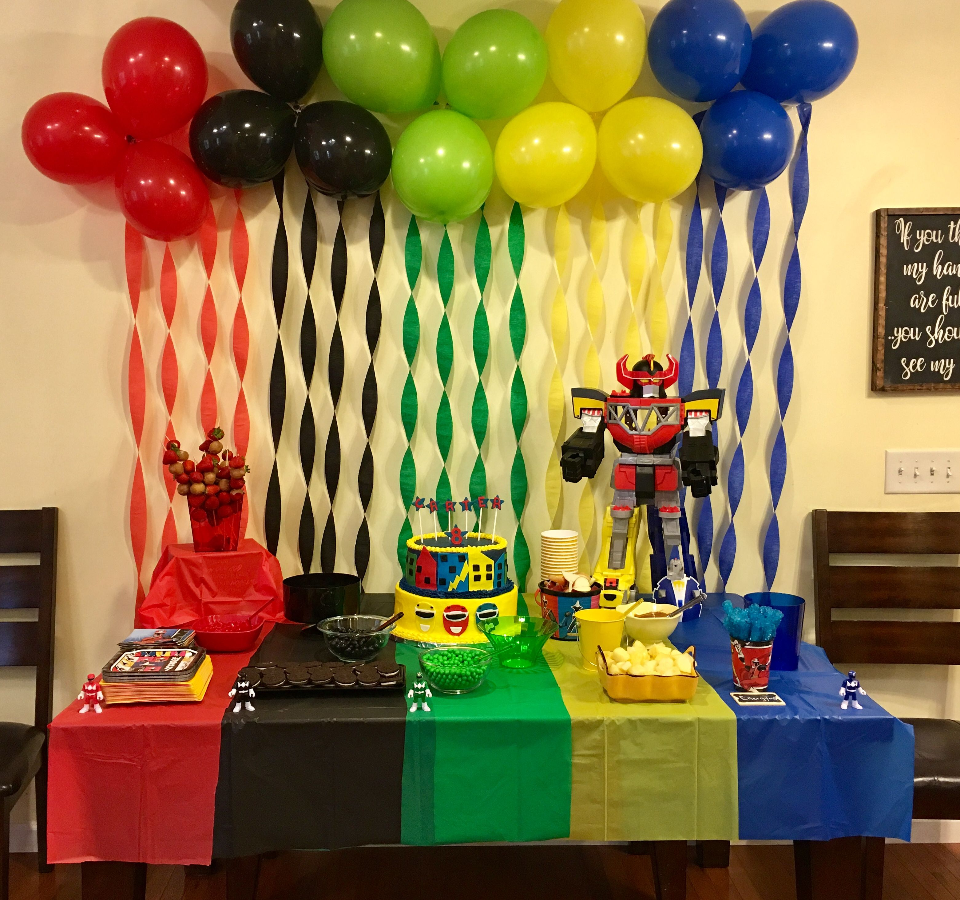 Power Rangers Party Power Ranger Birthday Party Power Ranger Birthday Ninjago Birthday Party