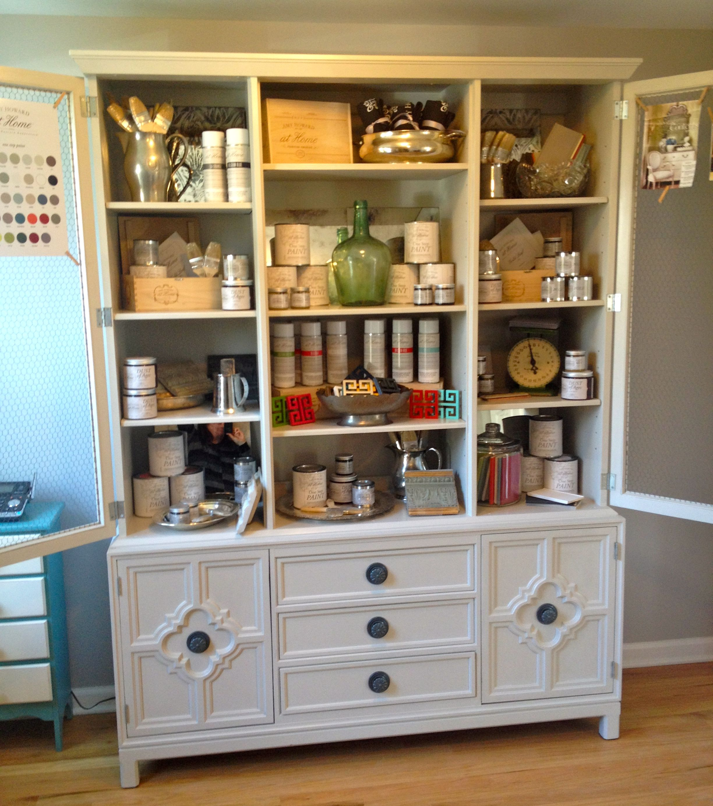 Amy Howard Display Painted With One Step Paint Home Kitchens Furniture Painted Furniture