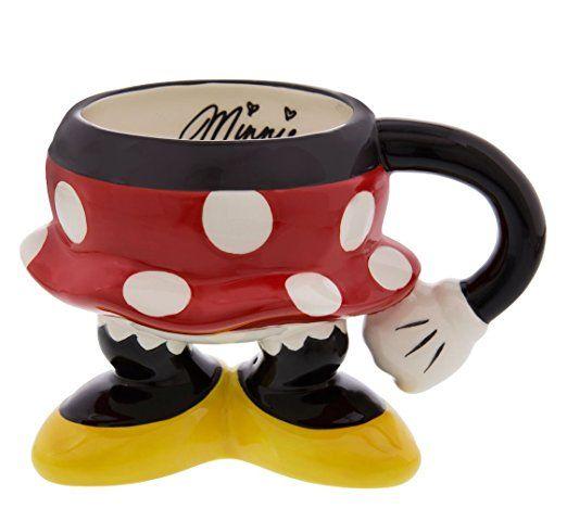 Disney Theme Parks Exclusive Minnie Mouse Body Parts Pants Ceramic Coffee Mug