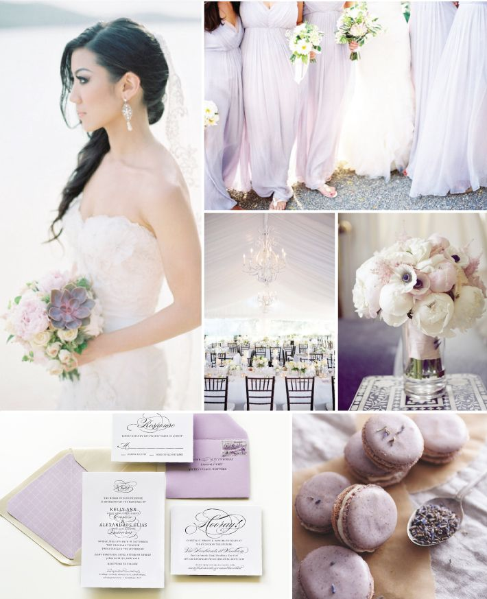 Purple, Black, and White Wedding Inspiration
