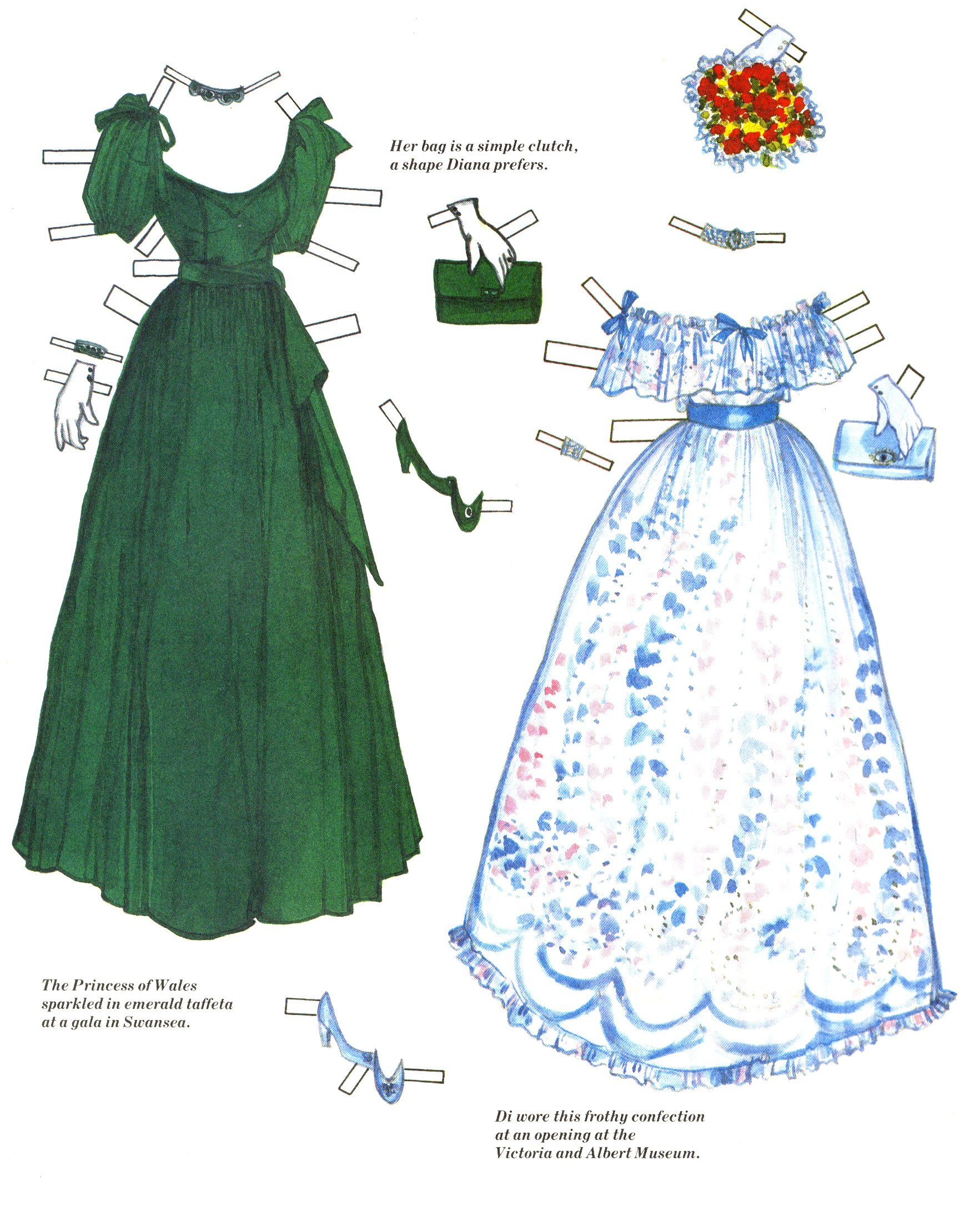 Princess Diana Paper Doll Book Of Fashion Paper Doll 39 S