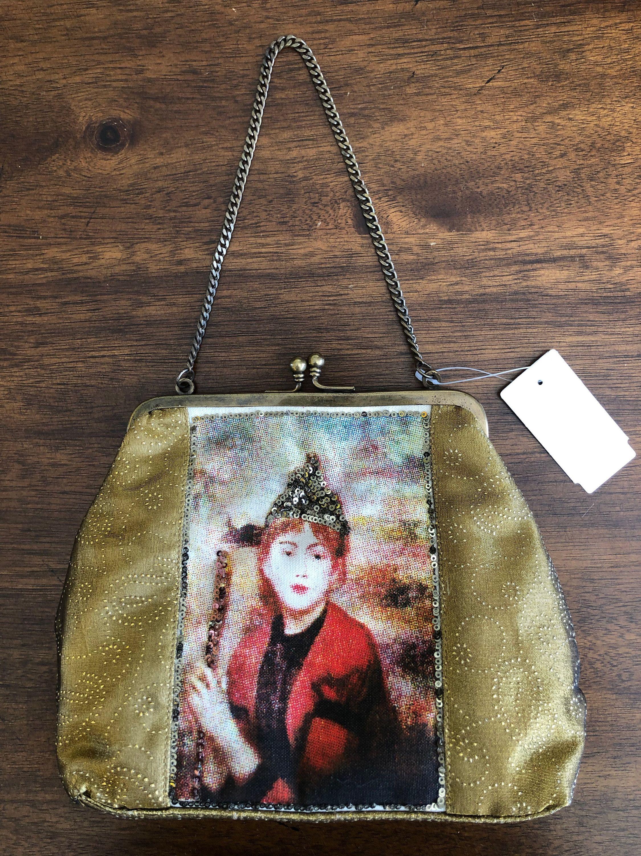 Little Gold Purse Tone Chain Handle Renaissance Bag