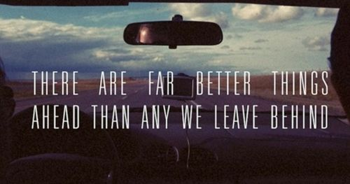 The windshield is much bigger than the rear view mirror ...