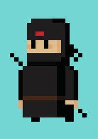 8 Bit Ninja In 2019 Pixel Art Art Design