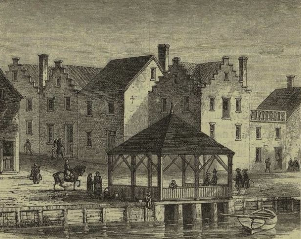 Dutch Houses Wall Street 1746 Nyc History New Amsterdam