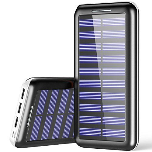 Portable Charger 24000mah Plochy Solar Charger Three Output Quick Charging Power Bank With Lightni Portable Battery Pack Portable Charger External Battery Pack