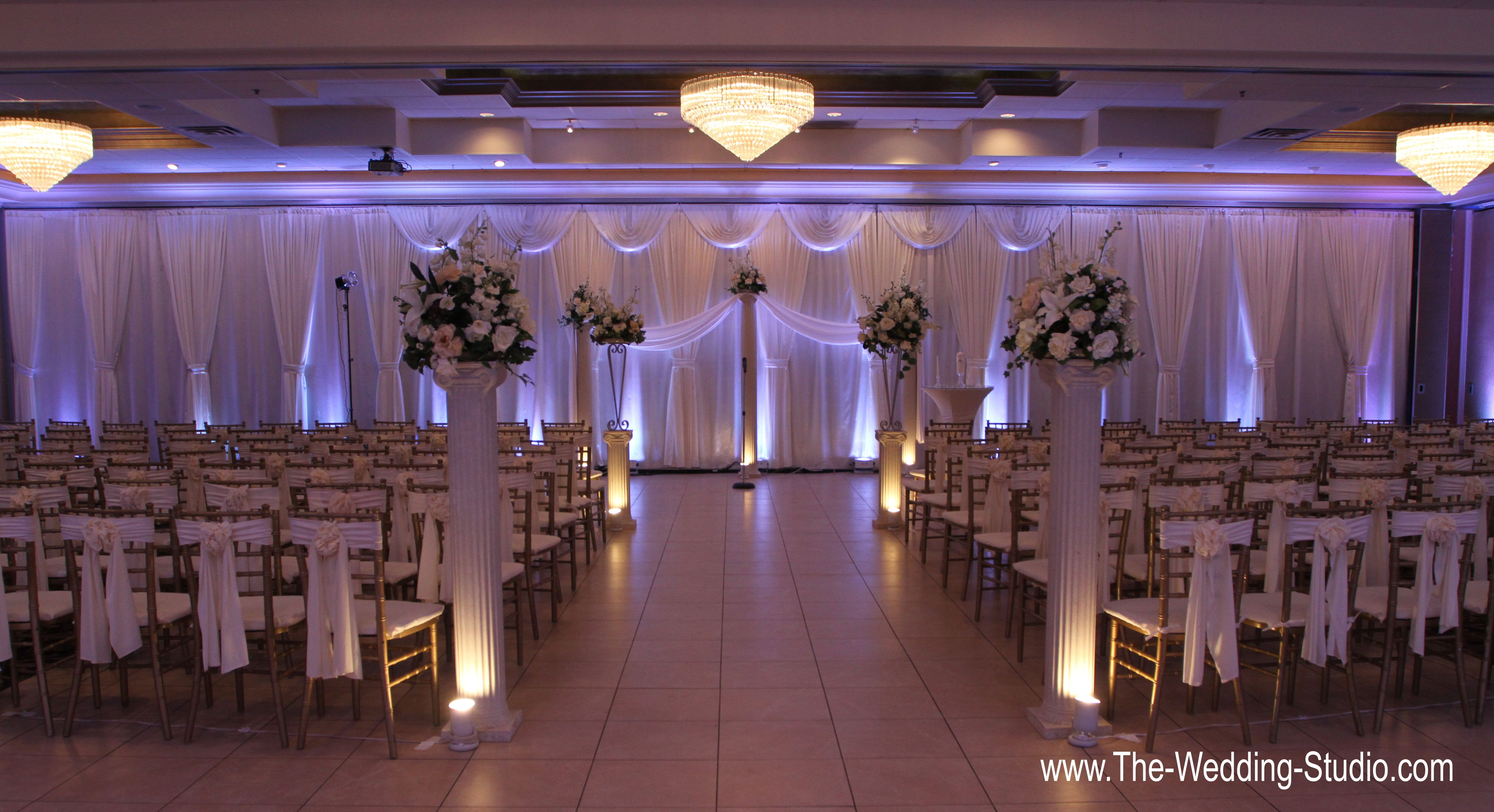 Ceremony Room Set Up For A January Wedding At The Seville Banquets In Streamwood Photographed By Studio Schaumburg Il