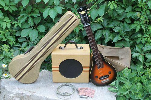 Vintage 1930s Gibson Recording King Lap Steel Guitar Eh 125 Tube Amplifier Amp Lap Steel Lap Steel Guitar Steel Guitar