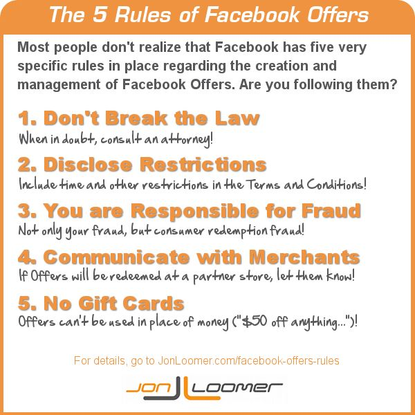 The 5 Rule of Facebook Offers