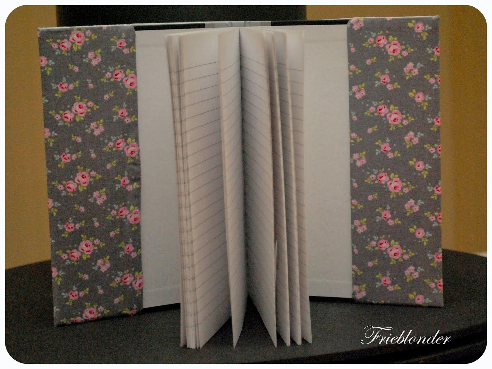 Frieblonder: Notatbok med stoffomslag