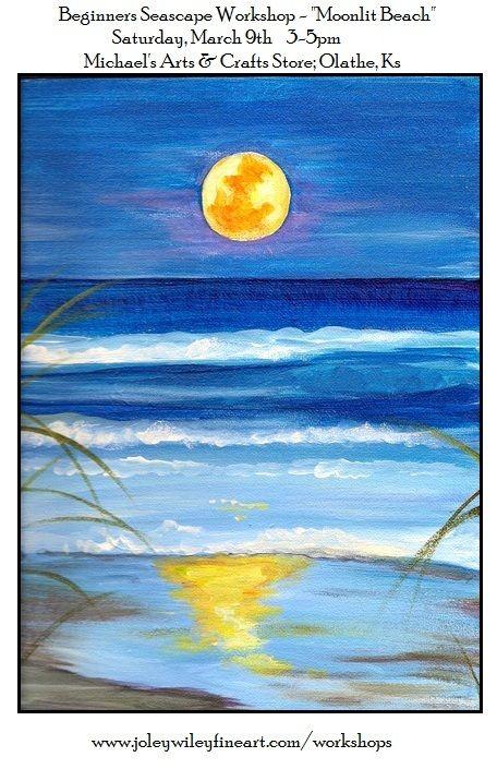 Beginners Seascape Acrylic Workshop.