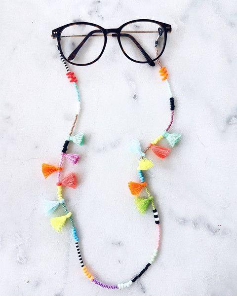 5f508d125ea Brillenketten - BRILLENSCHLANGE IBIZALOVE Brillenkette Brillenband - ein  Designerstück von PALMENKIND bei DaWanda Scarf Jewelry