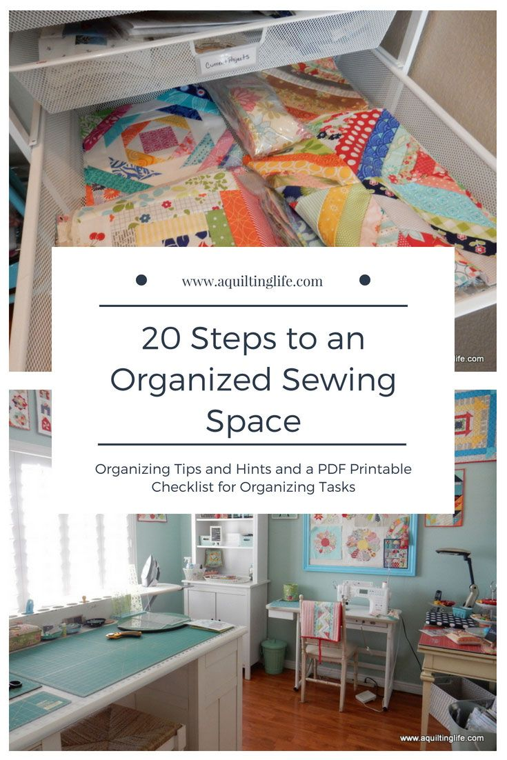 20 Steps to an Organized Sewing Space | sewing rooms | Pinterest ...