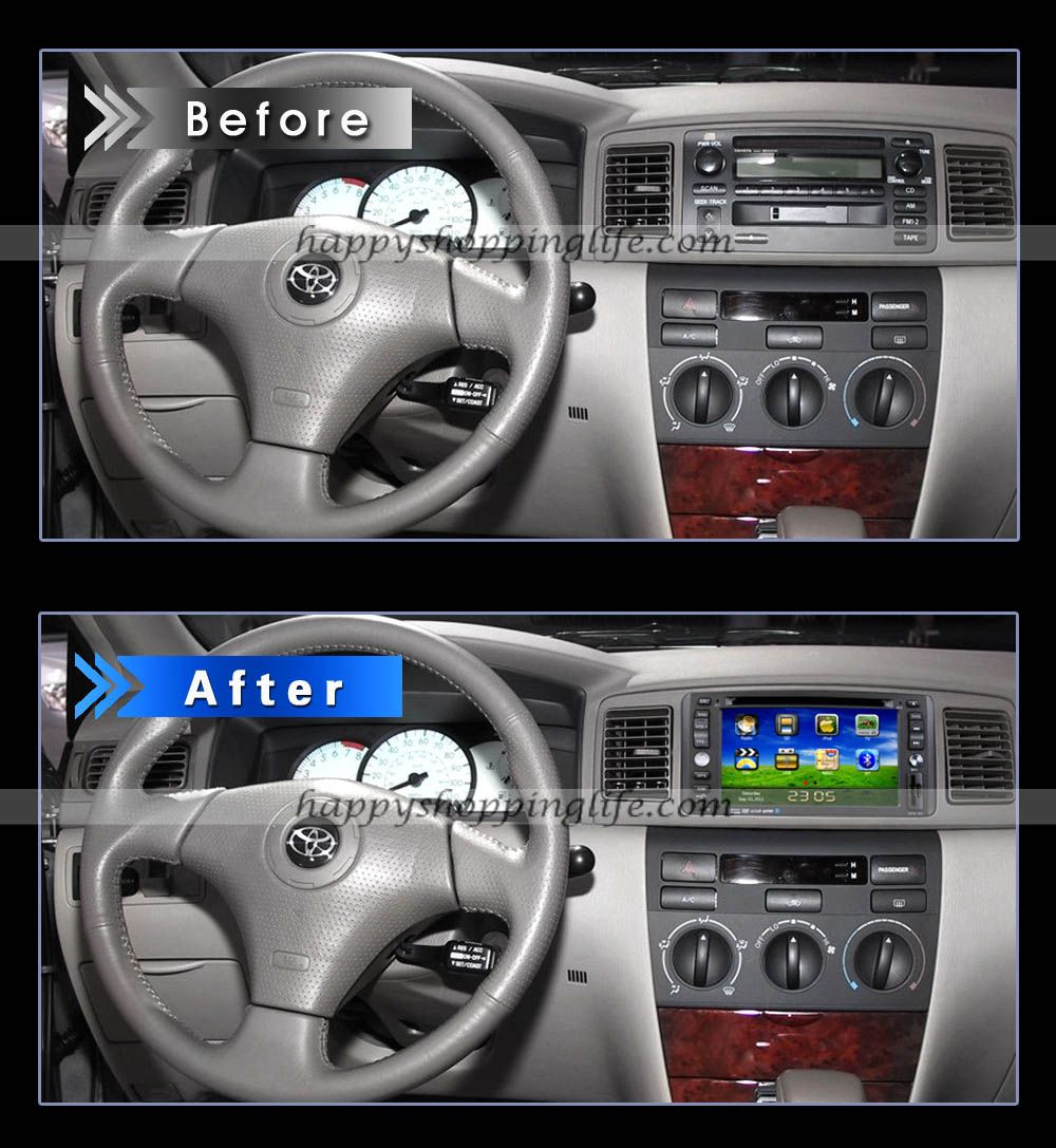 Install toyota series gps navigation system with dvd player built in http