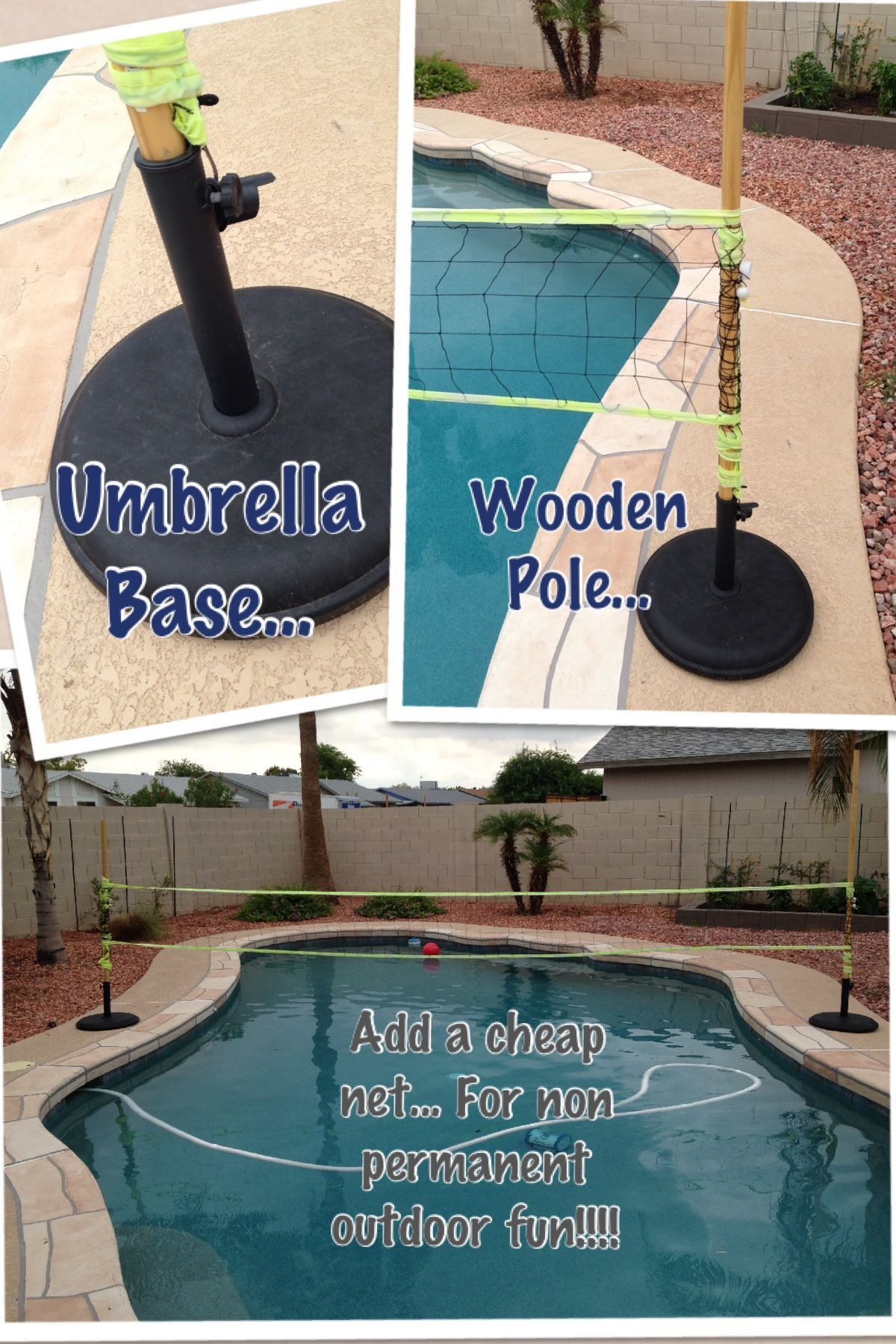 Easy Cheap Pool Volleyball Outdoorpartysetup Cheap Pool Pool Swimming Pools Backyard