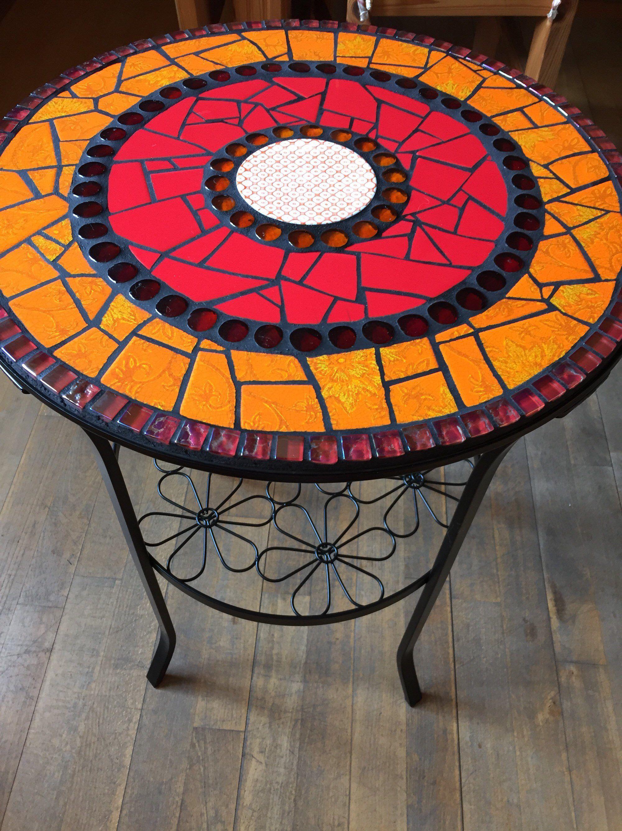 Mosaik Tisch Beistelltisch Garten Bistrotisch Mosaiktisch