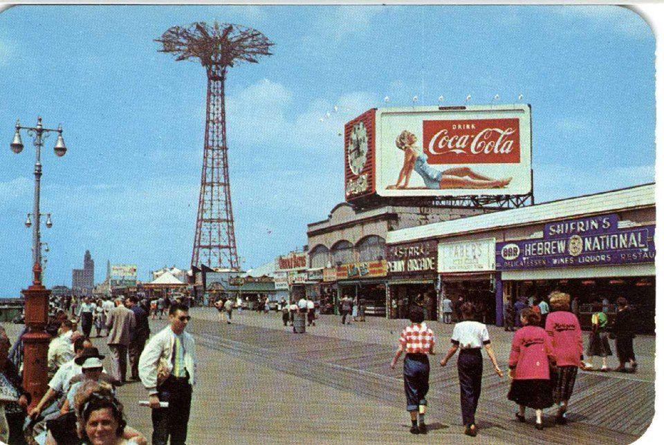 Coney Island Boardwalk - 1950's