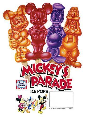 OMGOSH! I LOOOOOVED THESE AS A KID! AHH   Mickey Mouse Popsicles--REMEMBER THESE? @Amanda Barkiewicz @Danielle Barkiewicz