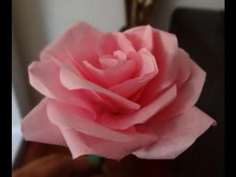 Cara Mudah Membuat Mawar Dari Kertas Tisu Krep Flower Crafts Craft Patterns Fabric Flowers