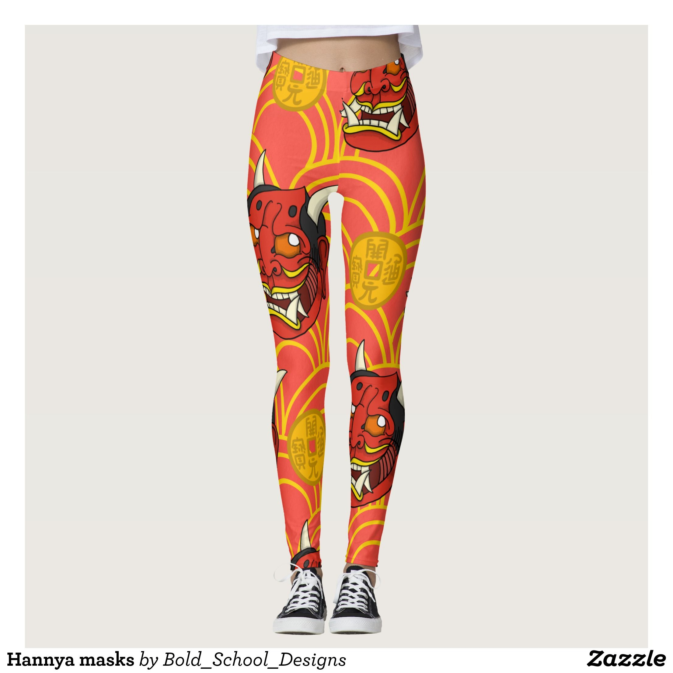 Hannya masks leggings Beautiful Yoga Pants Exercise