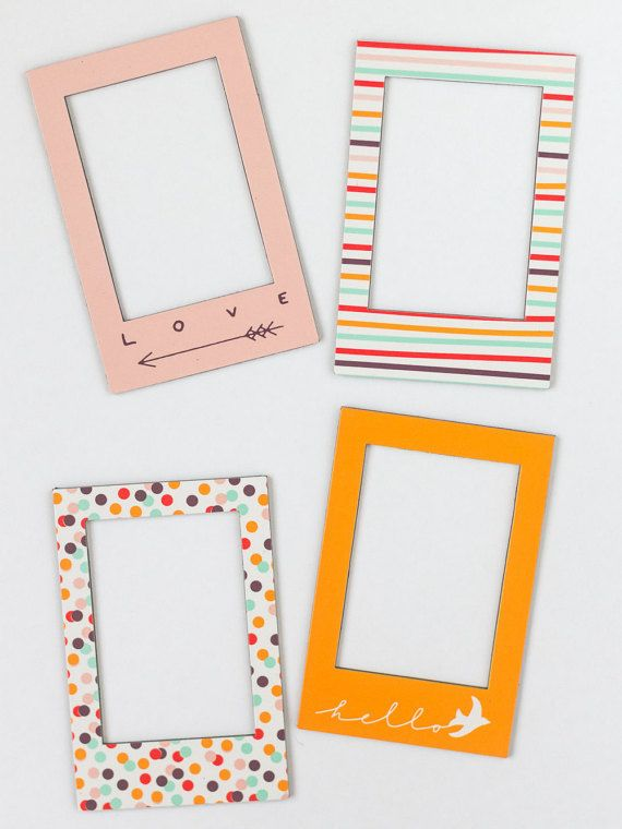 Instax Mini 8/7s Magnetic Photo Frames. Set of 4 colorful frames ...