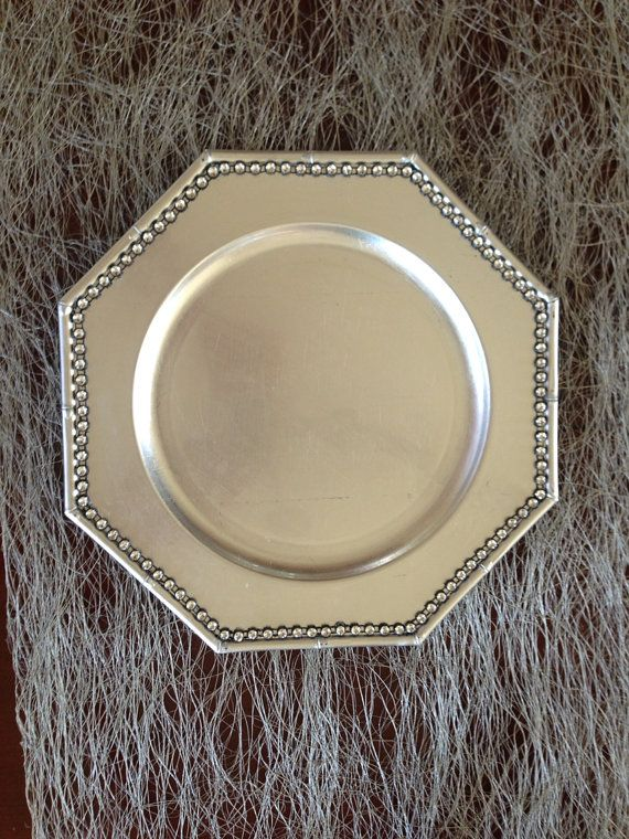 4 Silver Bamboo Charger Plates with Rhinestones & 4 Silver Bamboo Charger Plates with Rhinestones | Wish List! | Pinterest