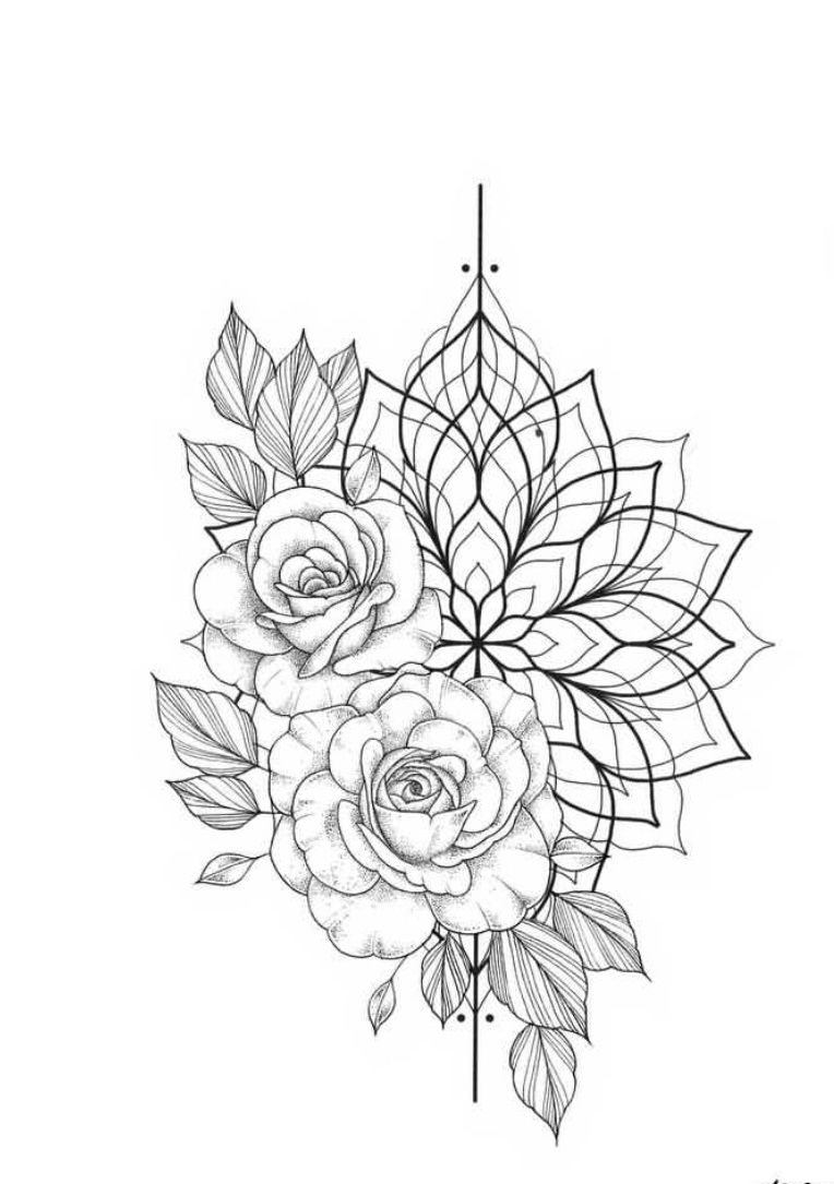 Photo of Floral mandala tattoo..maybe for the top of my arm