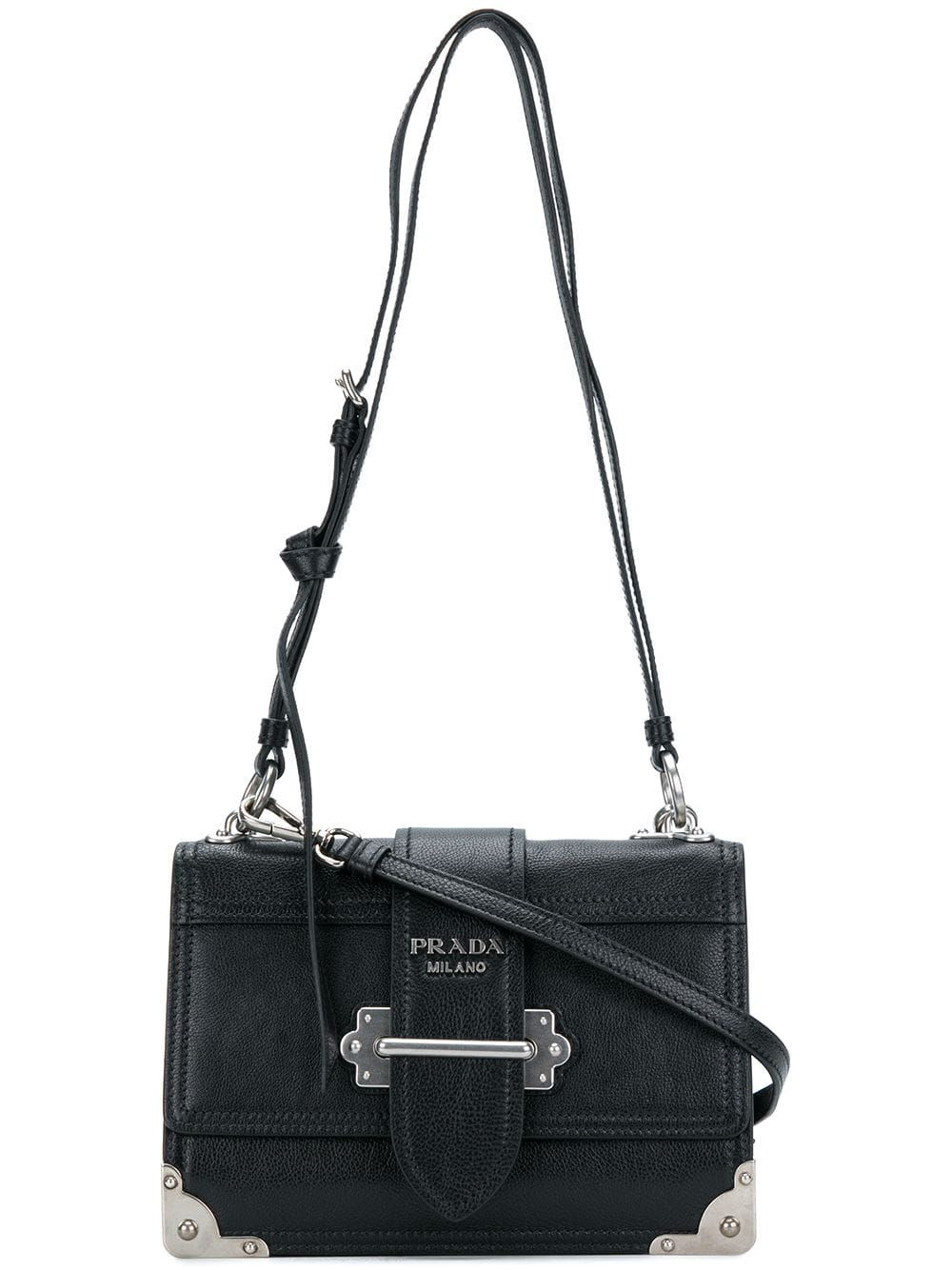 ab7c0974a2 Prada Cahier shoulder bag - Black in 2019 | Products | Bags, Womens ...