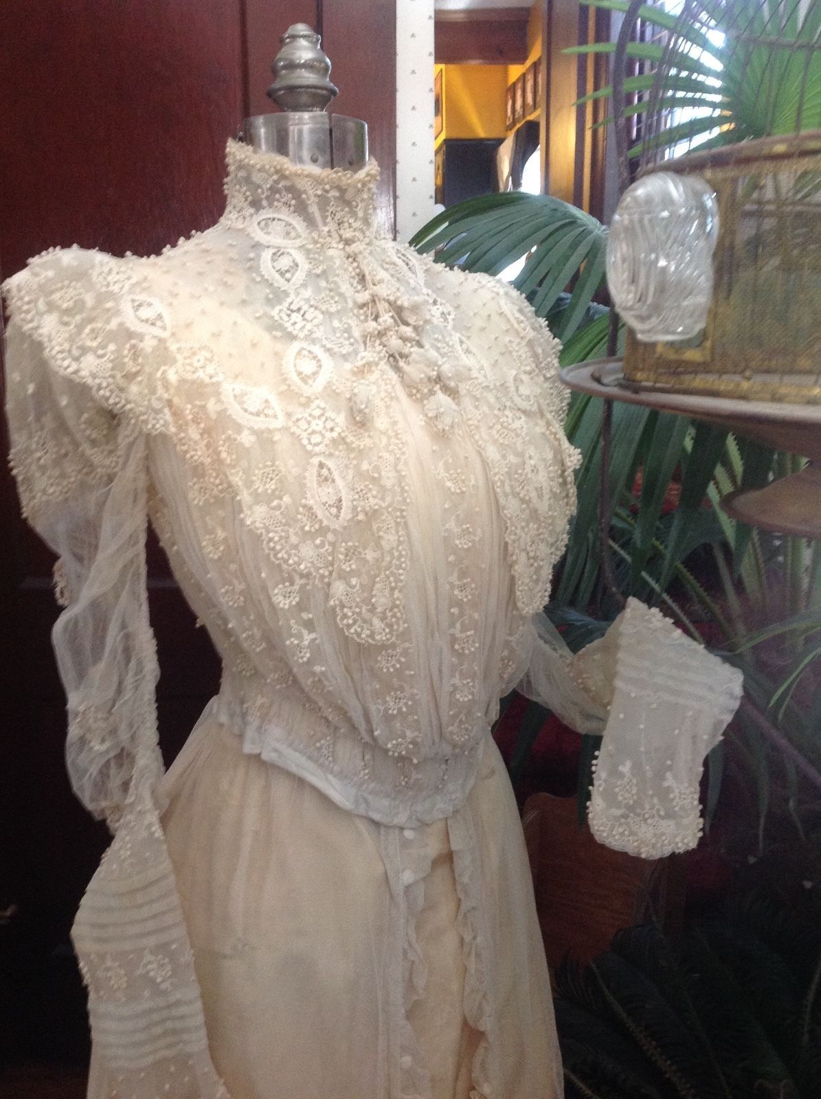 Authentic Victorian lace wedding gown eBay Wedding