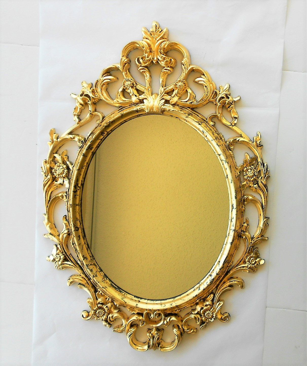 33 5 H Mirror Gold Gold Frame Oval Mirror Large Oval Etsy Gold Framed Mirror Oval Mirror Gold Frame