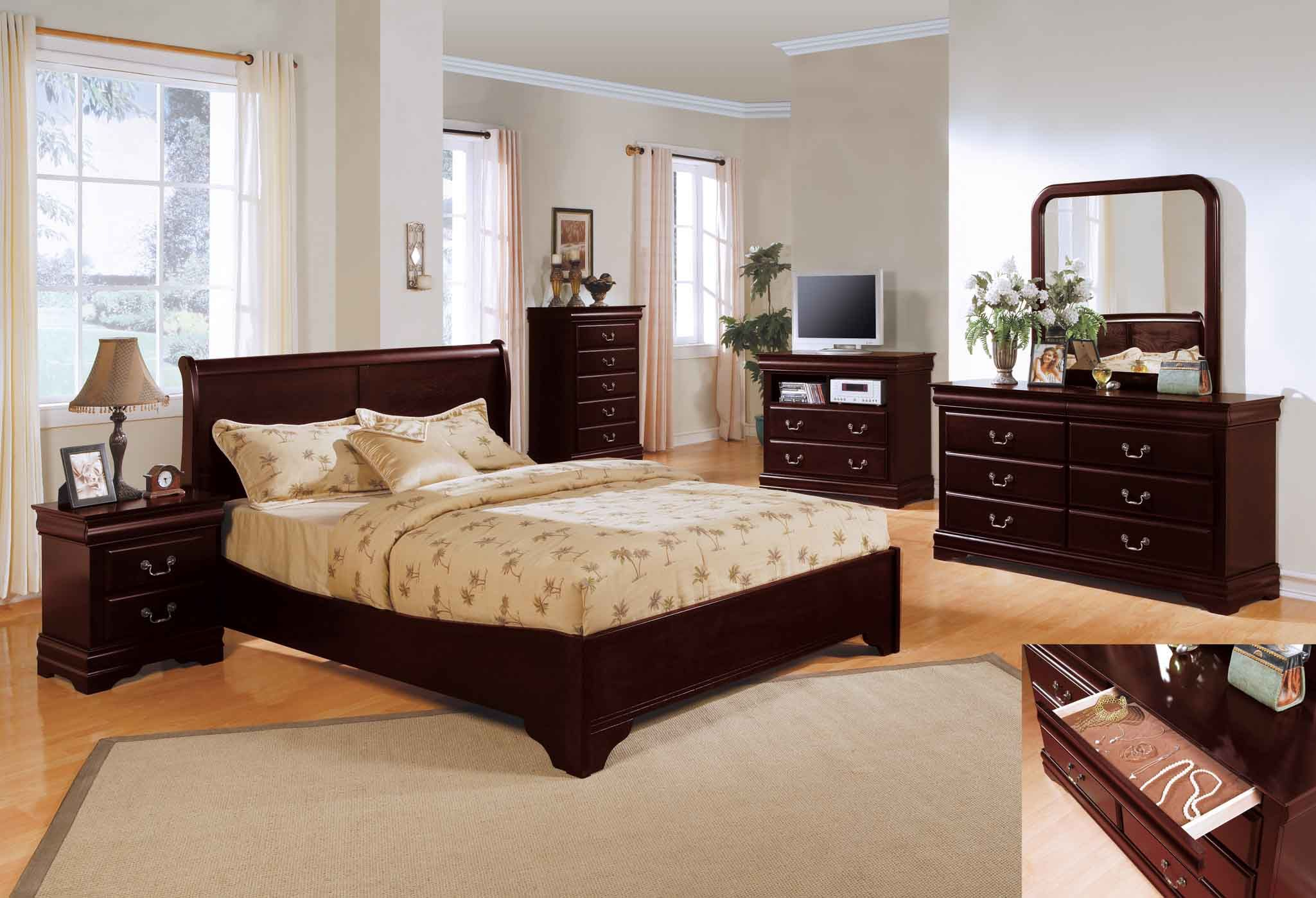 Bedroom decor bedroom decorating ideas with cherry furniture