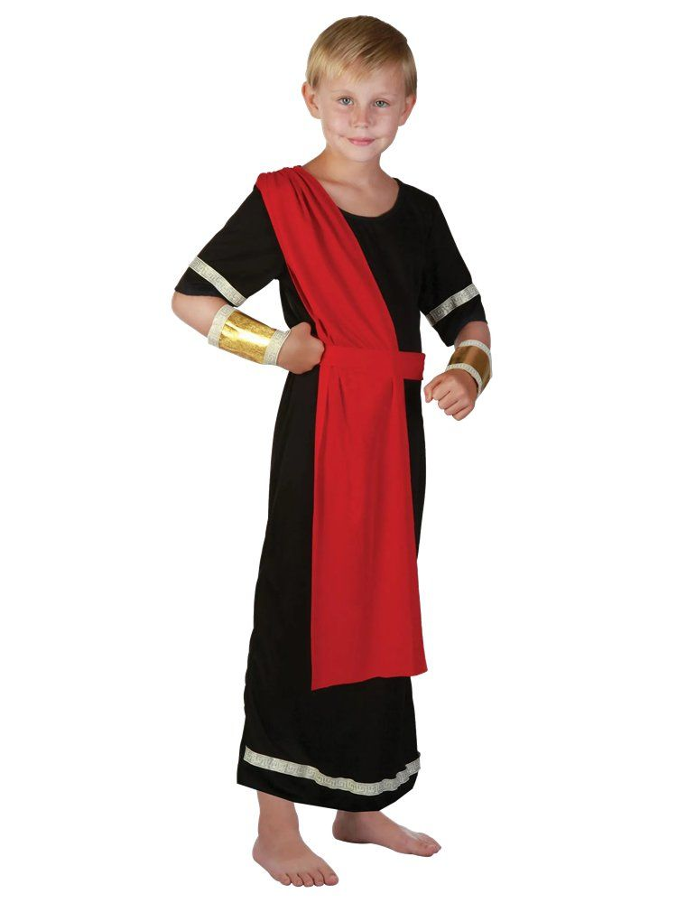 Roman Toga Boys Fancy Dress Grecian Kids Historical World Book Day Child Costume