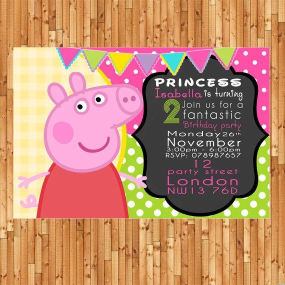 Peppa pig invitation peppa pig party peppa pig birthday peppa pig invitation peppa pig party peppa pig birthday printable bumbles design filmwisefo Images