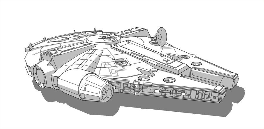 Sw Vehicle Millennium Falcon By Obhan Deviantart Com On