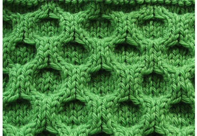 Узор соты » Схемы вязания спицами