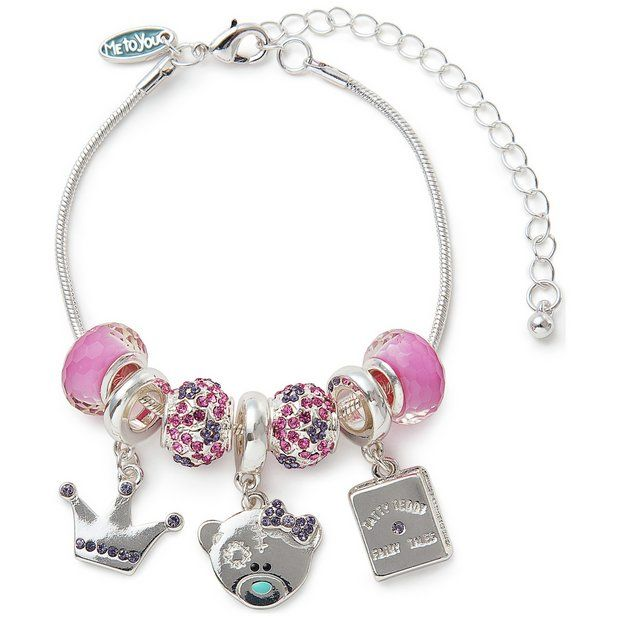 9f13f1361 ... promo code for me to you tatty teddy crystal beaded charm bracelet at  argos cb0b7 4921b
