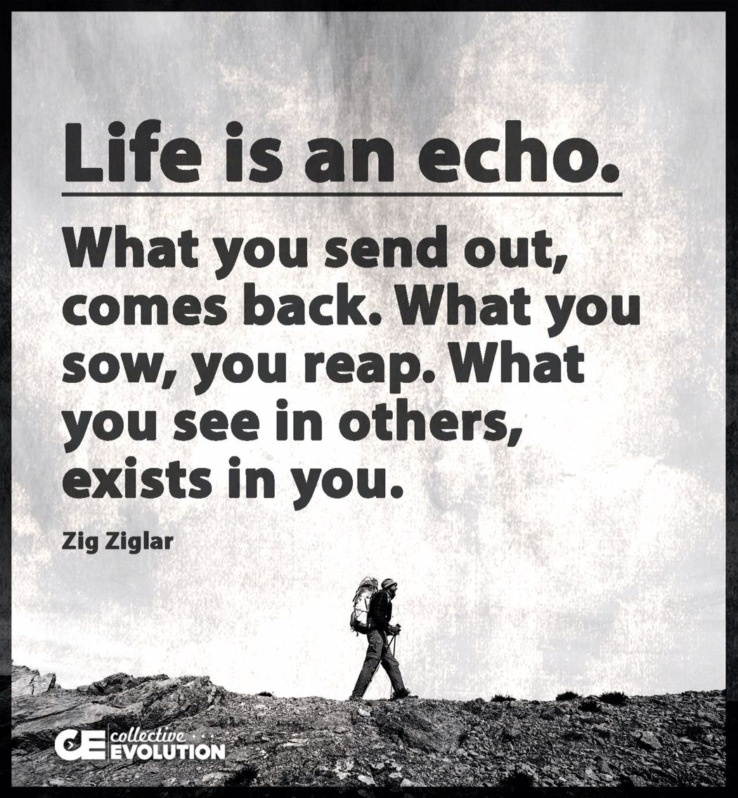 Life Is An Echo Quote Pininstant Karma Gonna Get U On Inspiration And Well Being