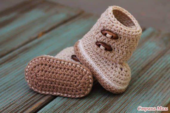 Patron botines tejidos a crochet para bebe07 | croché | Pinterest ...