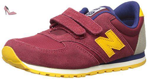 New Balance KE420 Hook and Loop KE420BYY, Basket, Burgundy/Yellow, 32.5 - Chaussures new balance (*Partner-Link)