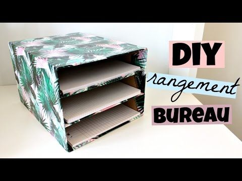 diy rangement bureau pour vos feuilles youtube a faire pinterest diy rangement. Black Bedroom Furniture Sets. Home Design Ideas