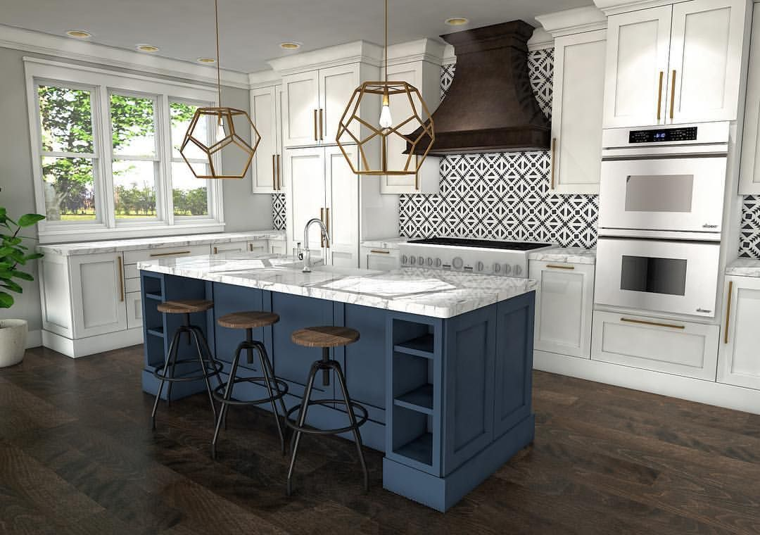 3d rendered kitchen julia laura interior designs includes a contrasting cabinetry in benjamin on kitchen interior tiles id=37759