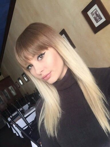 Ombre With Bangs Dark Roots Blonde Hair Balayage Hair Balayage Hair Blonde Long